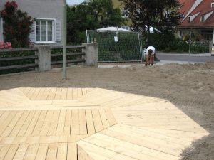 Tanzfläche Holz