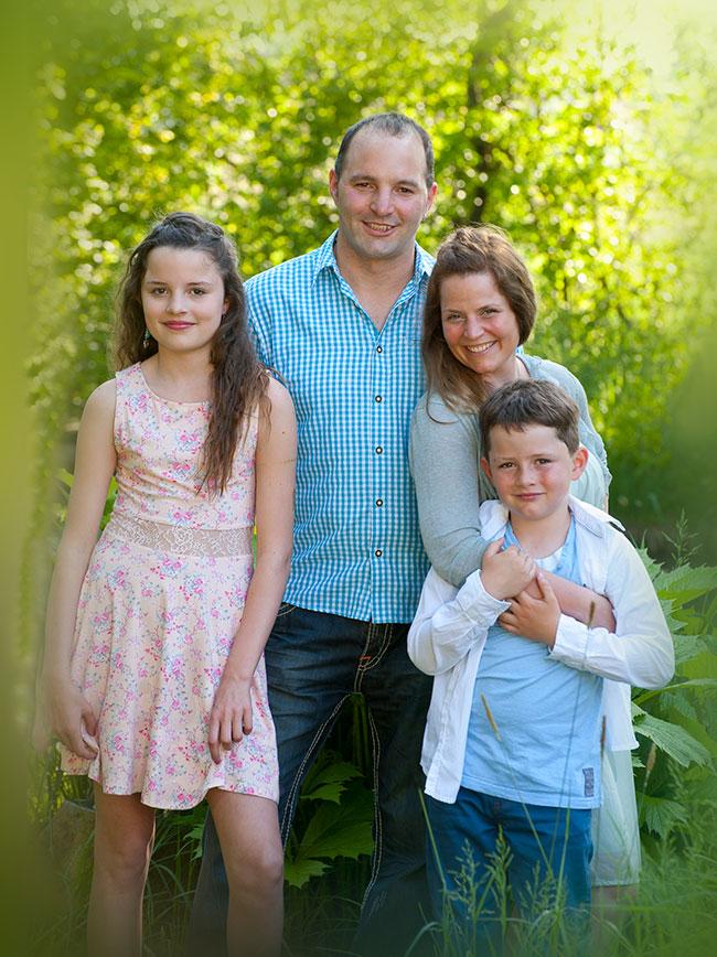 Anton Widmann mit Familie