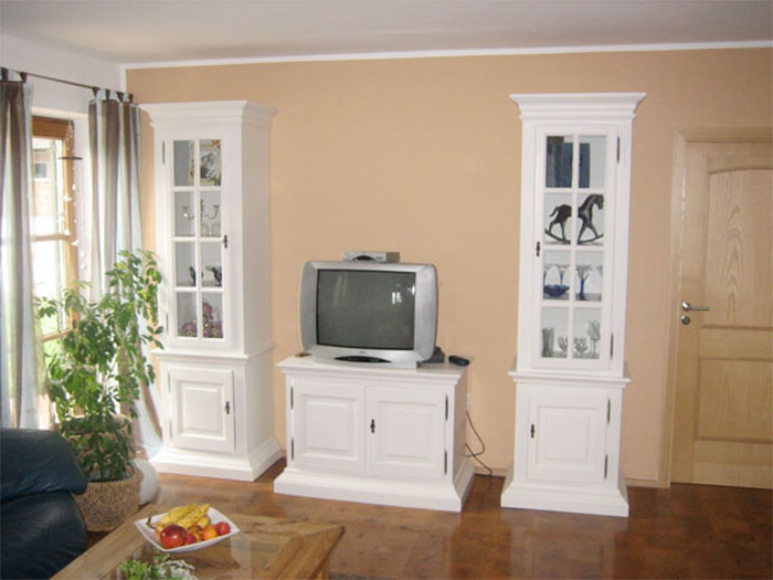 Wohnzimmereinrichtung klassich weiß
