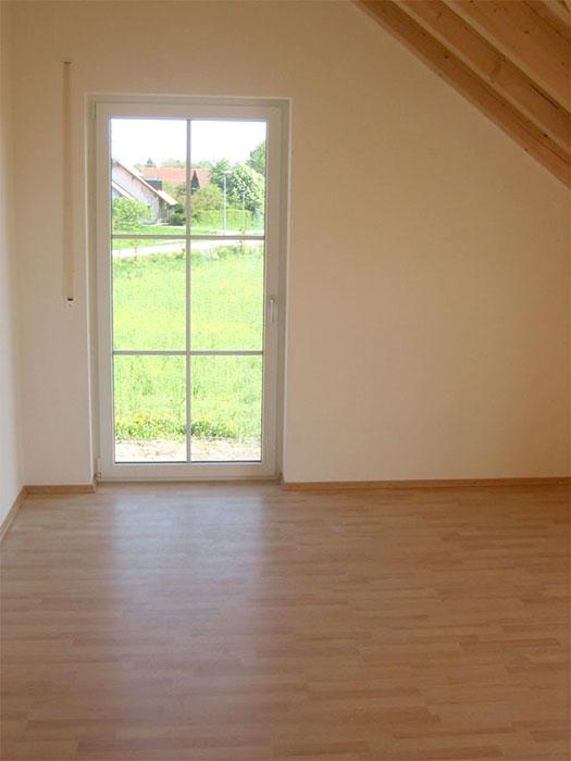 Bodenverlegung, Fensterausbau