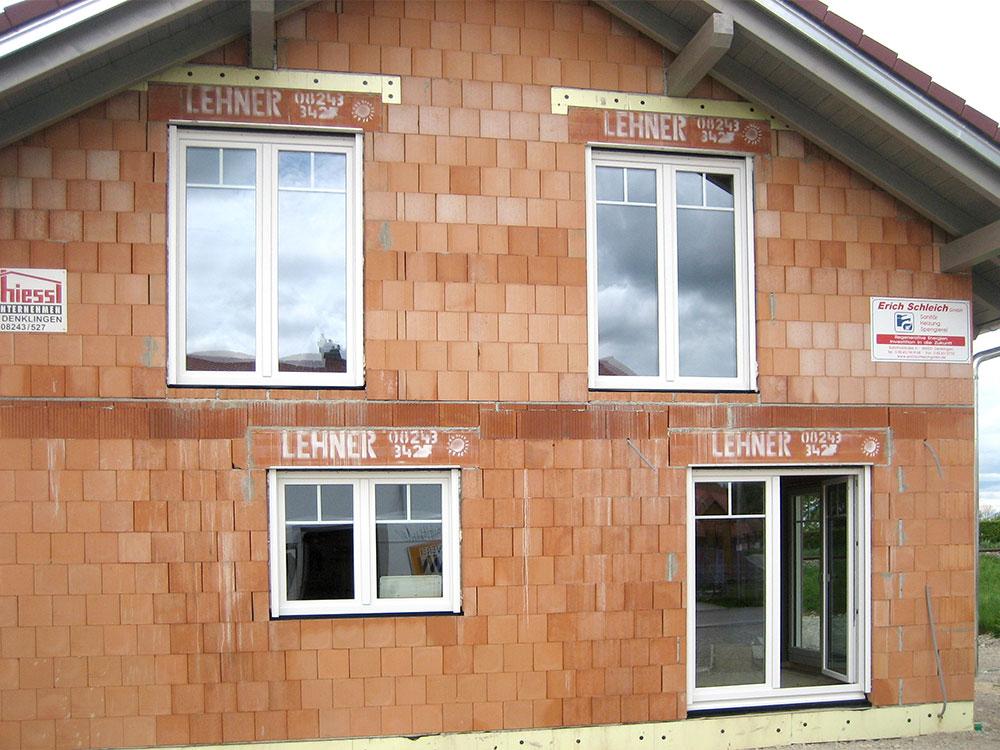 Neubau mit Kunststofffenster 3fach Verglasung