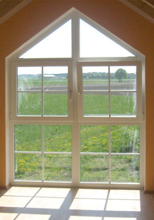 Bodentiefes Dachtfenster Sonderform