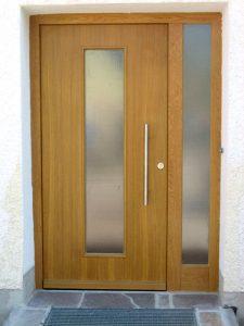 Haustür Holz mit Seitenteil