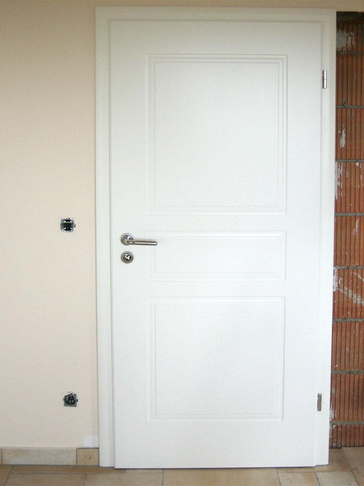 Zimmertüre weiß mit Kassetten