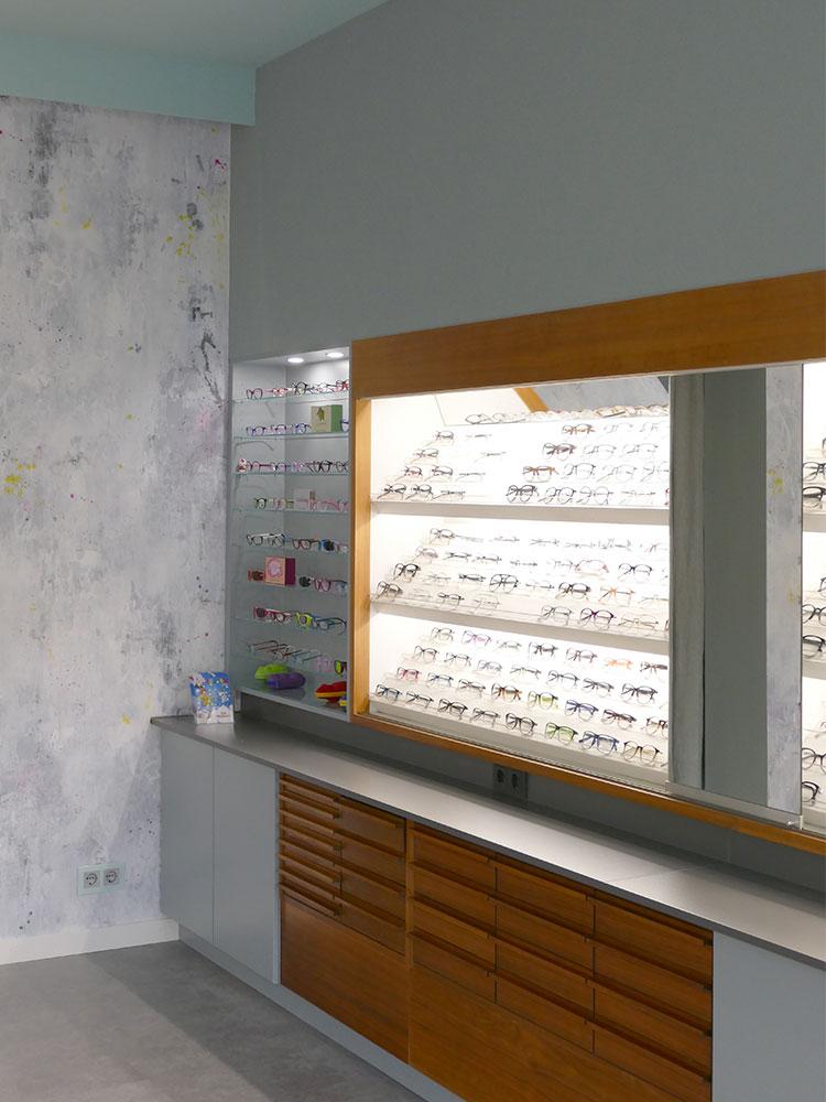 Vitrinen und Auslage Optiker