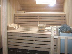 Einbau Sauna in Dachschräge