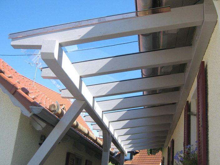 Vordach Wetterschutz mit Glasdach